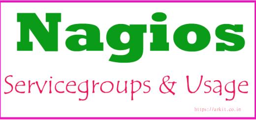 Nagios Core Create ServiceGroups configure servicegroups