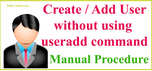 add user without using useradd command