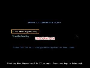 Start RHEV Hypervisor7