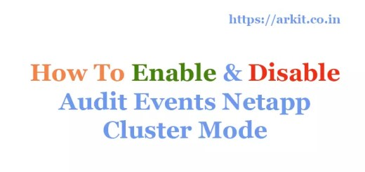 HowTo Enable Disable Audit Events Netapp Cluster Mode