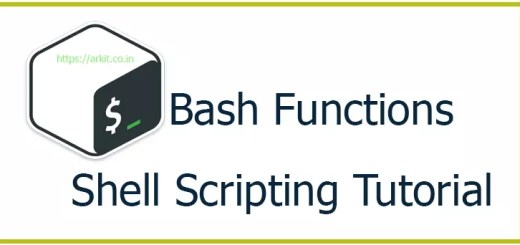 Bash Functions Linux Shell Scripting Tutorial