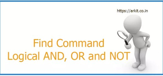 find command logical and, or and not examples