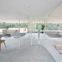 Hiroshima Hut: metallic mesh and acrylic walls