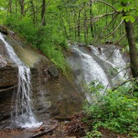Volunteer waterfalls along the trail to Glory Hole Falls, Ozark National Forest