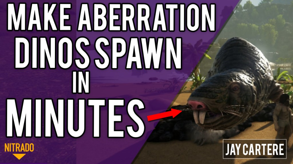 how to add ABERRATION DINO SPAWNS TO YOUR NITRADO PS4 ARK SERVER in minutes DOWNLOAD CODE GAME INI