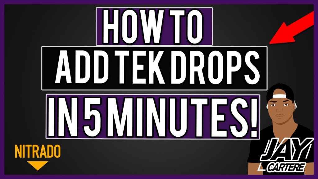 how to add tek drops TO YOUR NITRADO PS4 ARK SERVER in minutes DOWNLOAD CODE GAME INI