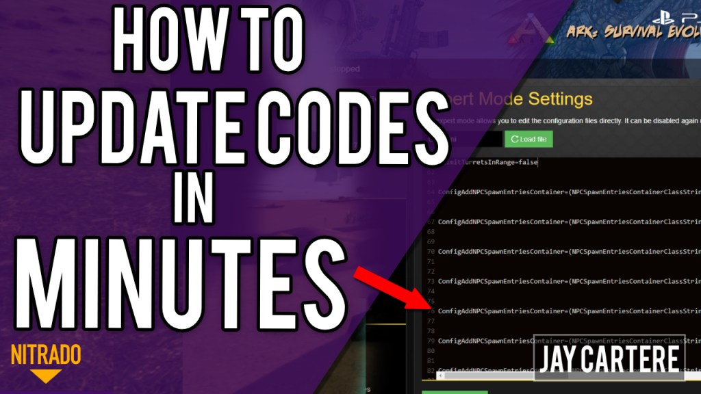 How To Update Codes On Your Nitrado Ark Ps4 Server In Minutes