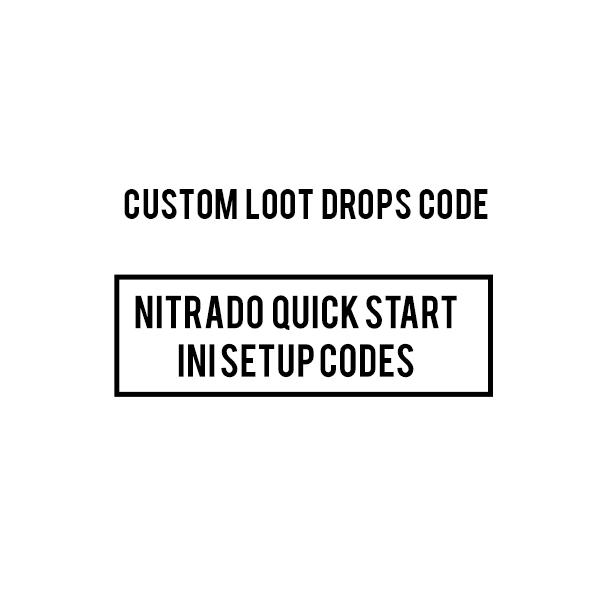 CUSTOM NITRADO ARK PS4 modded loot drops INI CODES