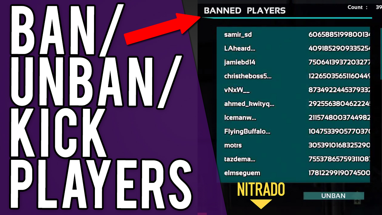 How To Ban/Unban Or Kick Players From Your Nitrado ARK