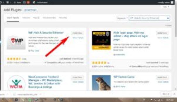 hide website information Install WP Hide & Security Enhancer