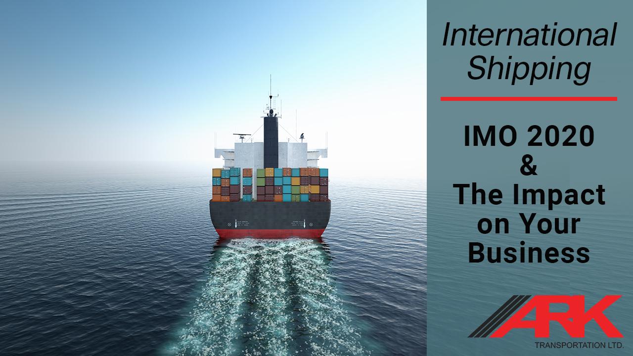 IMO 2020 Shipping and Logistics