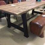 Industrial, metal, table, dining table