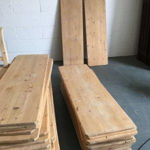Reclaimed wooden boards boards