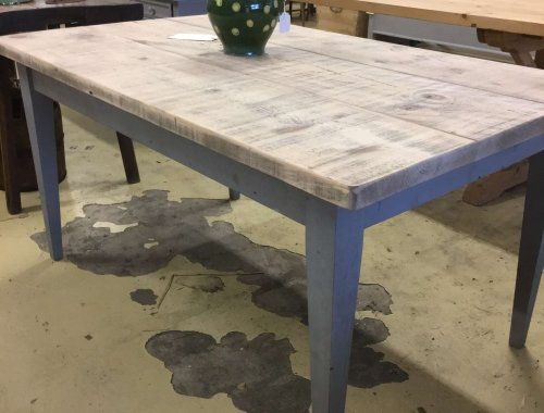 vintaghe style taper leg French farmhouse table reclaimed wood dining table