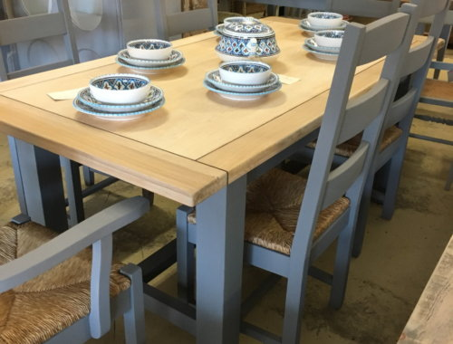 Country kitchen wooden table