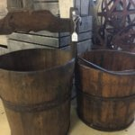 Vintage milk churn bucket