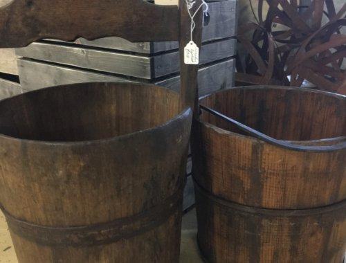 Vintage milk churn bucket