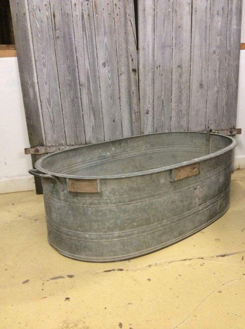 Vintage metal bath planter galvanised planter vintage camberley surrey