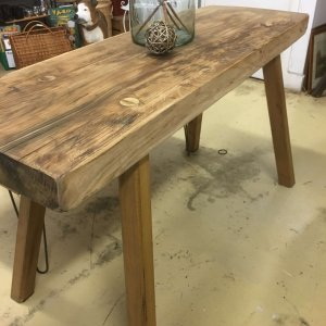 vintage table console side hall table