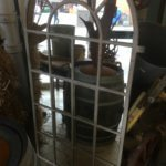 Mirrored Original large Cast Iron Window frame mirror