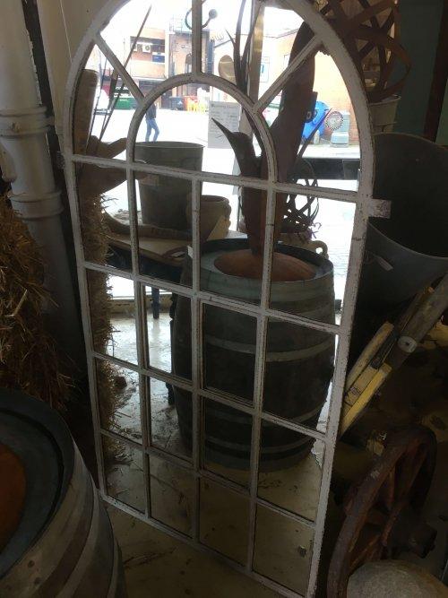Mirrored Original large Cast Iron Window frame mirror