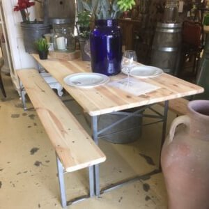 table and bench sets beer festival tables
