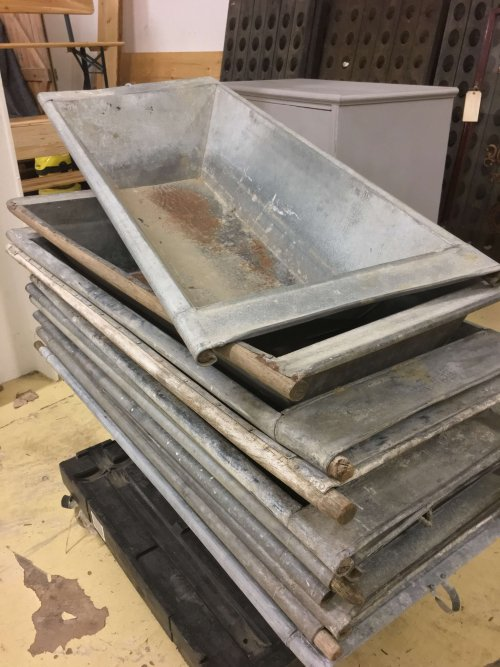 metal vintage galvanised planter trough bath industrial