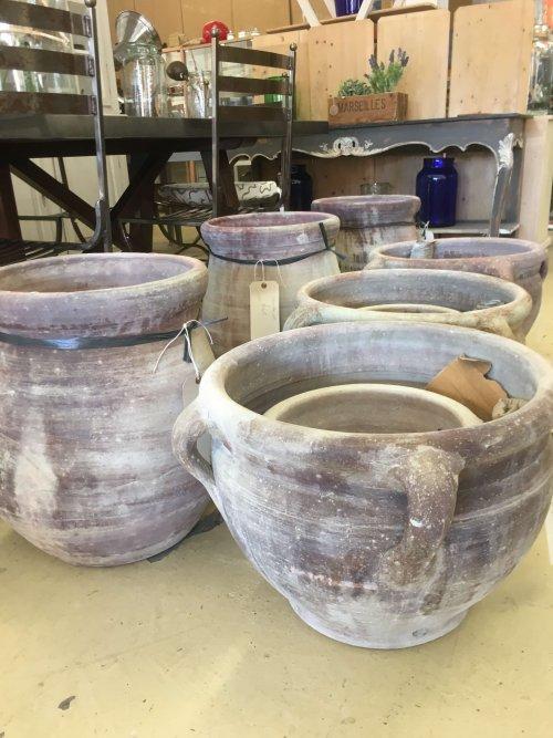 Terracotta pots @ arkvintage.com