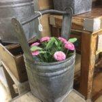 Galvanised buckets arkvintage