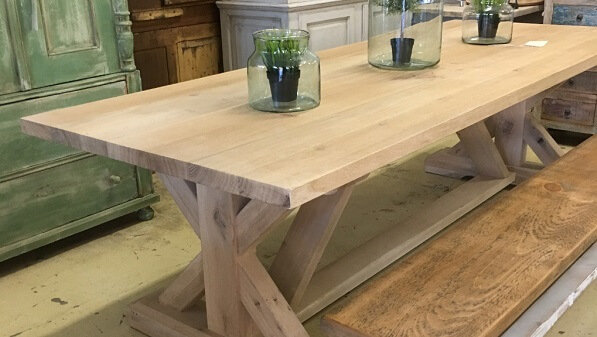 Shop Vintage, Farmhouse and Industrial style dining tables