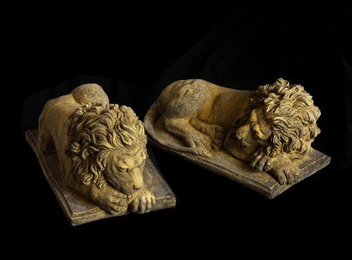 lions, stone, statuary, garden, pots, urns, surrey