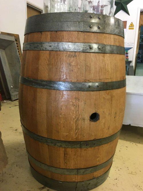 Vintage wine barrels