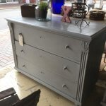 Chest Of Drawers Painted French chest of drawers. Vintage French.