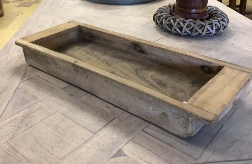 Vintage Wooden Dough Proofing Tray made from teak. online for sale Camberley surrey Can be used for fruit or to make a display piece. See picture of the one with sand and tea light candles, stunning! Beautiful grain and patina.