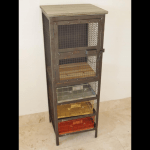 Metal Cabinet With Drawers industrial style storage display draws