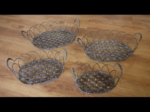 Metal Baskets from arkvintage camberley surrey beautifully made from metal, and come in 4 sizes.