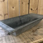 Vintage Galvanised Metal Bath, Planter trough metal garden old antique