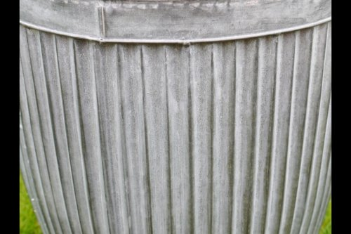 Galvanised Metal Planter Tubs for garden from arkvintage. Classic ribbed planters in galvanised metal. Fabulous vintage look for your garden trees, plants or herbs etc. Available online now in 3 sizes vintage dolly tub