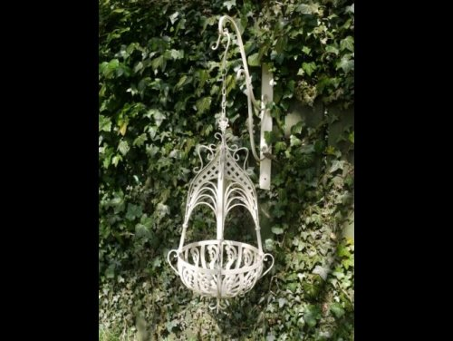 Hanging Baskets Metal shop buy find garden order camberley surrey from arkvintage. These baskets are well made from a good grade metal and painted in a rustic cream colour. Available online and in our Surrey store