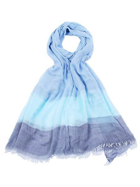 Scarf Blue Stripes msh at arkvintage. A mix of 3 dreamy blues in one scarf. Think oceans and skies on a warm breezy evening by the sea...hop and buy now online or in store Camberley Surrey.