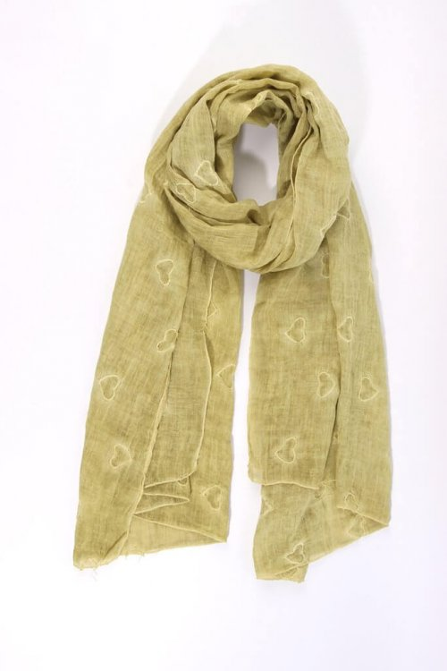 Scarf With Heart Design MSH from arkvintage. Beautiful scarves with heart designs from our carefully selected range. Buy now online or visit us in store Camberley Surrey. See pictures for more detail and select your favourite