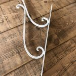 Hanging Basket Hook Bracket from arkvintage.com Beautiful brackets made of strong metal and painted. Excellent for the baskets we sell. One Hanging Basket Hook Bracket 16.50. £5 P&P. Two Hanging Basket Hook Brackets £30.  £5 P&P vintage camberley surrey buy shop