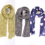 Heart Design Scarfs In Stock With Heart Design MSH Stockist from arkvintage. Beautiful scarves with heart designs from our carefully selected range. Buy now online or visit us in store Camberley Surrey. See pictures for more detail and select your favourite