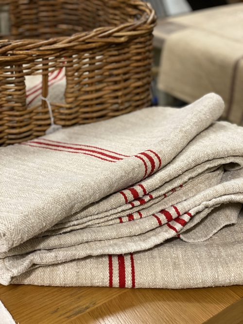Vintage linen sacks Hungarian french surrey camberley christmas