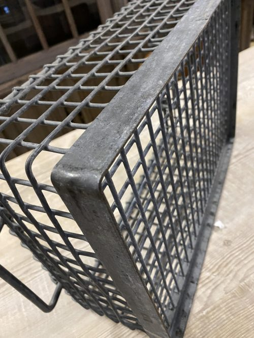 Galvanised Vintage Metal Basket, original old vintage galvanised baskets with industrial background reclamation reclaimed old antique camberley surrey offer sale