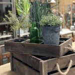 Rustic crates with rope handles in 2 sizes, from reclaimed wood. These crates have a great patina and can be used in a multitude of ways.