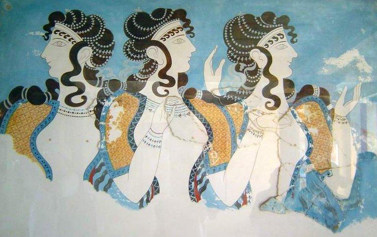 Knossos_fresco_women