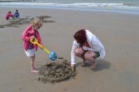 Zandkastelen maken