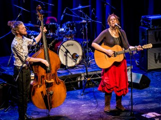 Hollie Rogers on vocals & guitar, Tom Holder on double bass