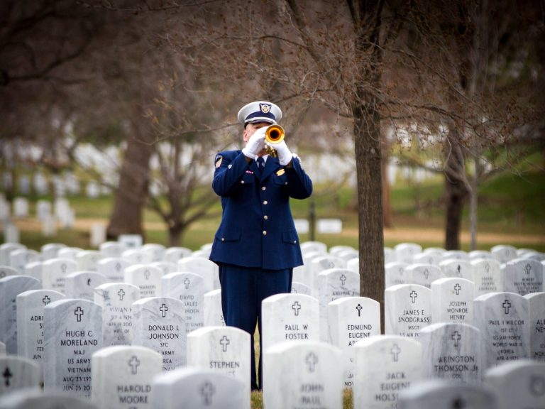 US Coast Guard Bugler in Section 55